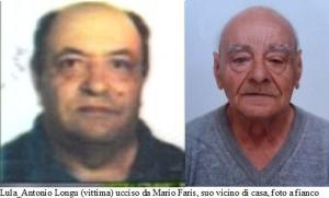 Antonio longu ucciso a Lula e vicino di casa Mario Faris