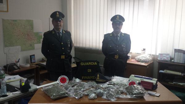 giovane sassarese arrestato dai militari della gdf per detenizone e spaccioi di stupefacenti