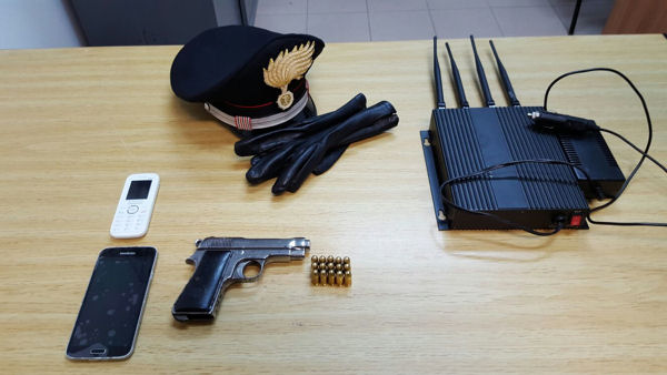 pistola sequestrata cc di compagna quartu