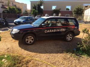 incedio casa pula_carabinieri sul posto