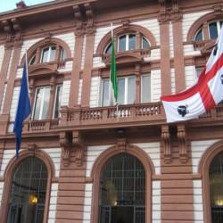 Facciata restaurata Universita di Sassari