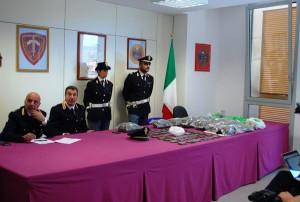 Foto stupefacente sequestrato Olbia - Conferenza stampa