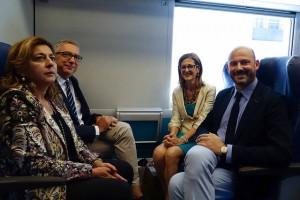 Pigliaru, Careddu e Morgante (AD Trenitalia) a presentazione contratto di Servizio2