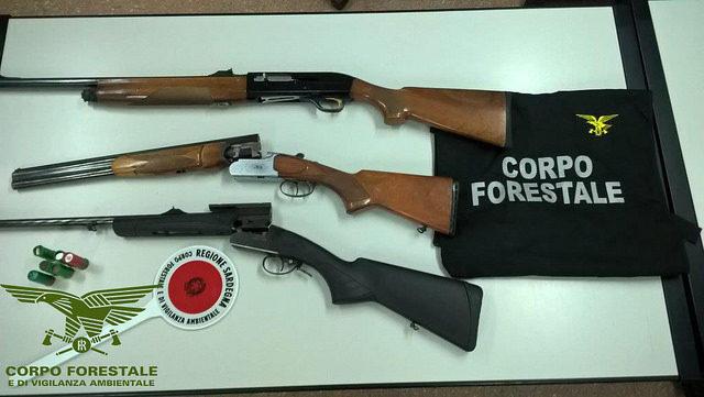 bracconaggio_sequestrati fucilil da agenti forestale