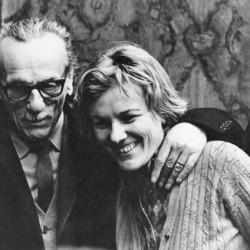Eduardo De Filippo e Liliana Cavani 2 1972 foto Mario Tursi_bassa