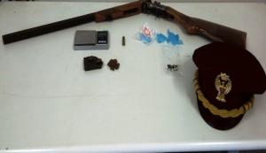 fucile sequestrato da polizia
