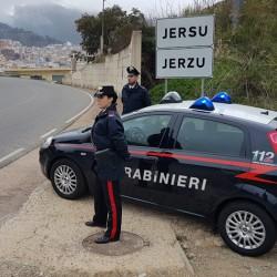 Pattuglia carabinieri ingresso Jerzu