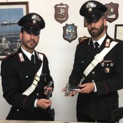 carabinieri stazione orosei con armi sequestsrate