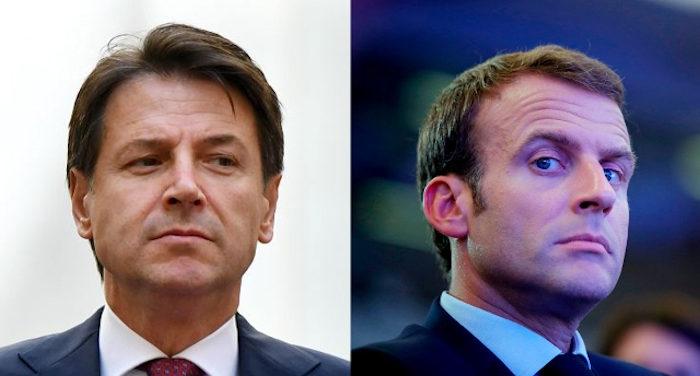 Conte_Macron_in pochi giorni salvini ci isola dall'europa