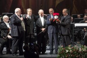 Sabino Lenoci, Claudio Orazi, Donato Renzetti, Cristiano Erriu, Leo Nucci (foto Priamo Tolu)