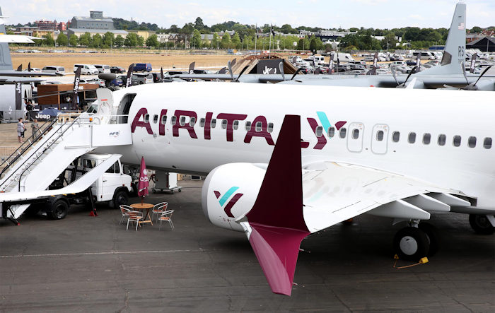 Air Italy B737 MAX Farnborough Airshowg