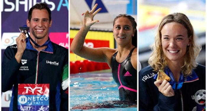 Tris di ori negli europei di nuoto