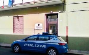 Auto polizia davanti commissariato di ps di quartu