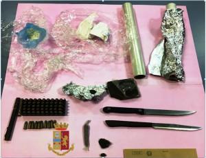 materiale sequestrato a pluripregiuicato Cau di Cagliari