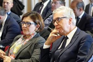 Presidente Francesco Pigliaru e ministro Elisabetta Trenta