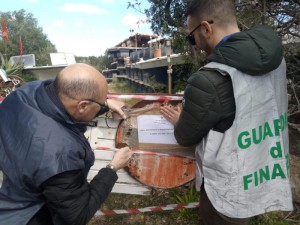 Sequestrata da gdf Palau discarica abusiva
