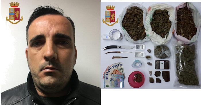 Arresto a Pirri_Roberto Cagliari e droga sequestrata