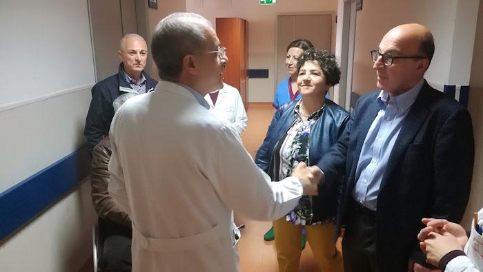 Assessore Nieddu visita ospedale san Martino di Oristano