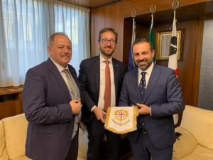 Presidente consiglio Sardegna riceve delegato della Generalitat de Catalunya in Italia