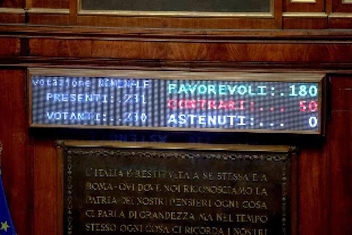 Senato_votazione taglio senatori