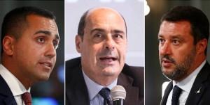 Di Maio, Zingaretti e Salvini il terzo incomodo