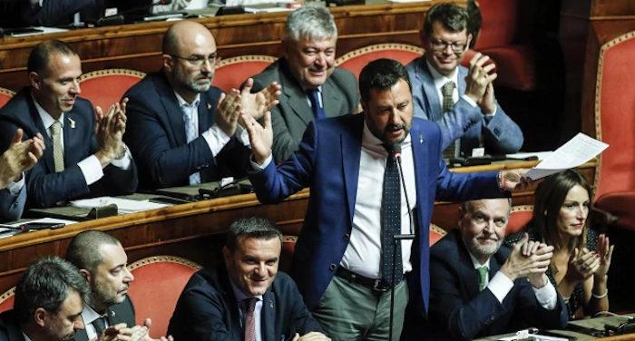 Salvini ci prova con la riduzione dei parlamentari ma la probabile nuova maggioranza lo boccia