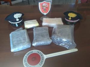 Cinque chili di cocaina sequestrati dai carabinieri comp Sanluri