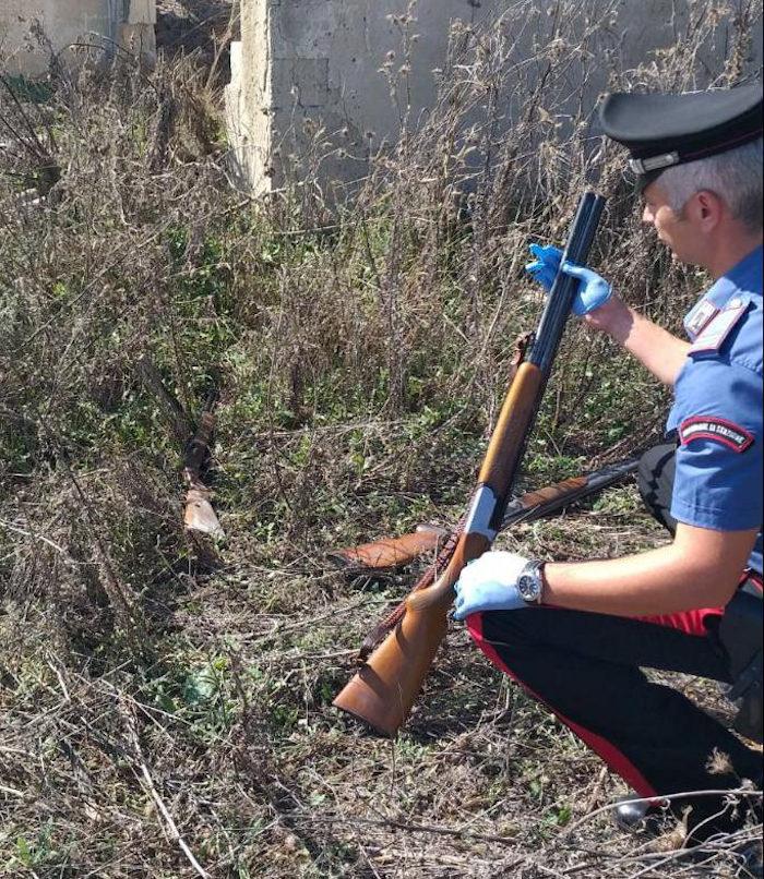 Fucili da caccia trovati da cc villasor