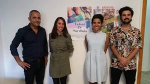 Talent IN Sardinia (da sx Mauro Carta (presidente Crei), Jennifer, Paola e Augustin)