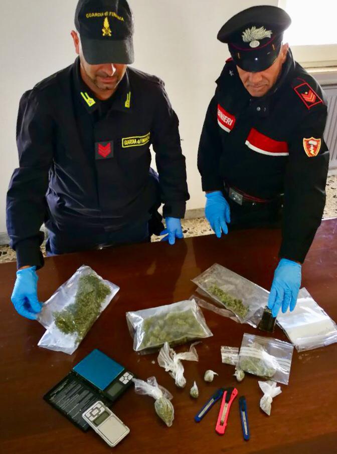 Carabinieri comp. Sanluiri con droga