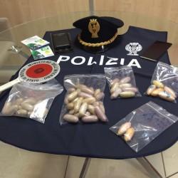 Ovuli di droga sequestrati ad un giovane del Mali a Sassari