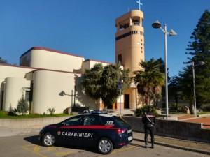 Chiesa Villacidro dove sono state arreste tre rome per furto