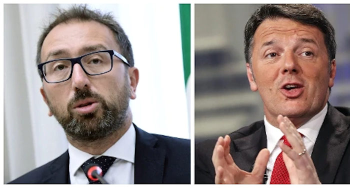 Nella foto il ministro della giustizia Bonafede e Renzi