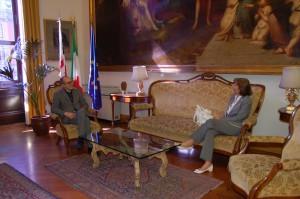 Il Sindaco Paolo Truzzu e la Rappresentante del Governo Amali Di Ruocco