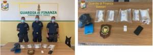 Gdf Sassari con droga sequestrata a Porto Torres