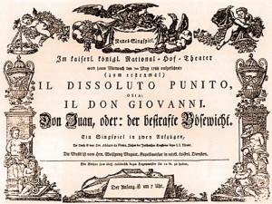 foto repertorio antico cartellone de il Don giovanni di Mozart