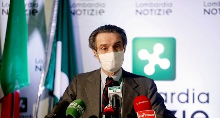 Presidente regione Lombardia Fontana